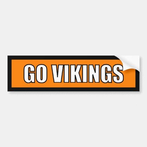 Vikings - Black Orange White Bumper Sticker