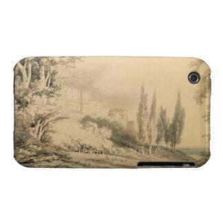 Villa d'Este, c.1796 (blue & grey wash over graphi iPhone 3 Case