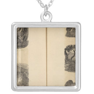 Village, cities silver plated necklace