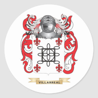 Villarreal Family Crest (Coat of Arms) Round Sticker