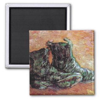 Vincent Van Gogh - A Pair Of Shoes Square Magnet