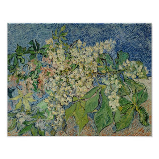 Vincent van Gogh   Blossoming Chestnut Branches Poster