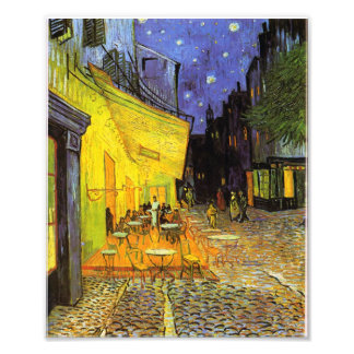 Vincent Van Gogh Cafe Terrace At Night Vintage Art Photographic Print