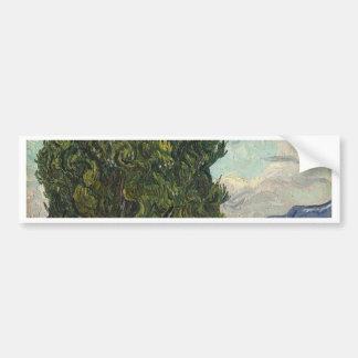Vincent Van Gogh - Cypresses Painting Bumper Sticker