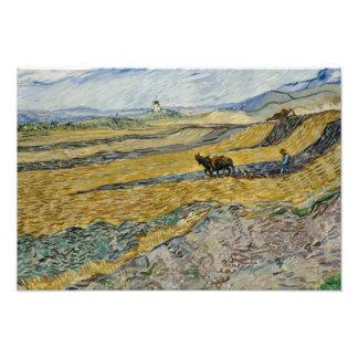 Vincent van Gogh - Enclosed Field with Ploughman Photo Print