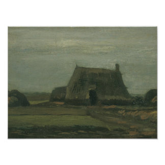 Vincent van Gogh - Farm with Stacks of Peat Art Photo