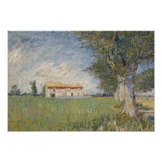 Vincent van Gogh - Farmhouse in a Wheat Field Photo Art