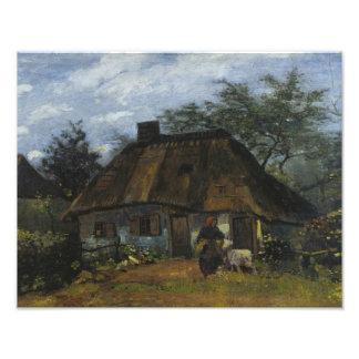 Vincent van Gogh - Farmhouse in Nuenen Photographic Print