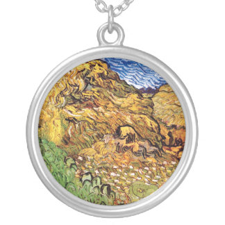 Vincent Van Gogh - Field With Stacks Of Grain Silver Plated Necklace