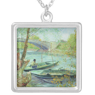 Vincent van Gogh | Fishing in the Spring Silver Plated Necklace