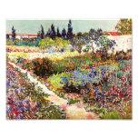Vincent Van Gogh Flowering Garden Floral Fine Art