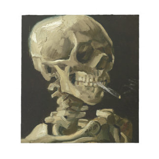 Vincent Van Gogh Head of A Skeleton with Cigarette Notepad