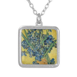 Vincent Van Gogh - Irises Art Work Silver Plated Necklace