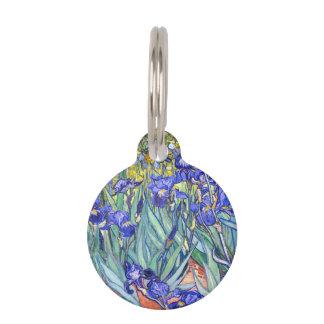 Vincent Van Gogh Irises Floral Vintage Fine Art Pet Name Tag