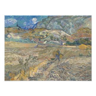Vincent van Gogh - Landscape at Saint-Remy Photo Art