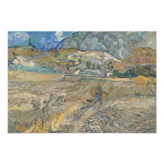 Vincent van Gogh - Landscape at Saint-Remy Photo Print