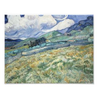 Vincent van Gogh - Landscape from Saint-Remy Photo Print