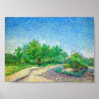 Vincent van Gogh Landscape Poster. Poster