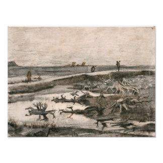 Vincent van Gogh - Landscape with Bog Trunks Photographic Print