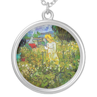 Vincent Van Gogh - Marguerite Gachet In The Garden Silver Plated Necklace