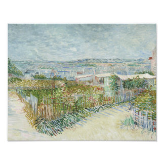 Vincent van Gogh - Montmartre: Behind the Moulin Photo Print