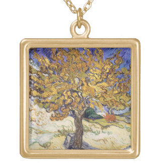 Vincent van Gogh | Mulberry Tree, 1889 Gold Plated Necklace