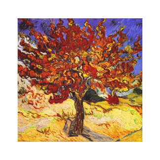 Vincent Van Gogh Mulberry Tree Fine Art Painting Stretched Canvas Prints