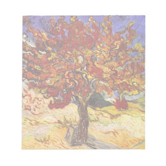 Vincent Van Gogh Mulberry Tree Fine Art Painting Notepad