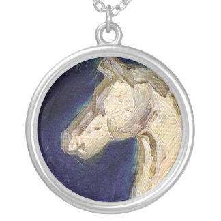 Vincent Van Gogh - Plaster Statuette Of A Horse Silver Plated Necklace