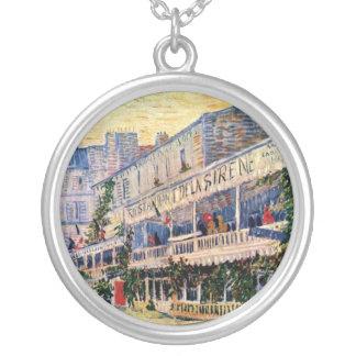 Vincent Van Gogh - Restaurant De La Sirene Silver Plated Necklace