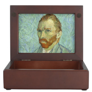 Vincent Van Gogh Self Portrait Fine Art Painting Keepsake Box
