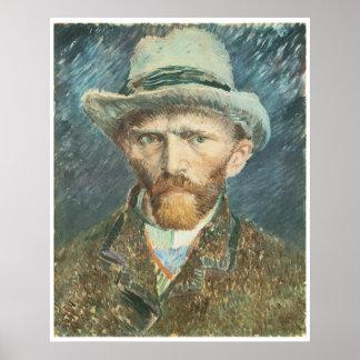 Vincent Van Gogh Self Portrait with Grey Felt Hat Poster