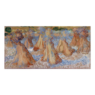 Vincent van Gogh Sheaves of Wheat Poster