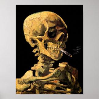 Vincent Van Gogh - Skull With Burning Cigarette Poster