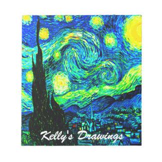 Vincent Van Gogh Starry Night Enhanced Notepad
