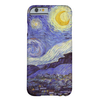 Vincent Van Gogh Starry Night Vintage Fine Art Barely There iPhone 6 Case