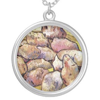 Vincent Van Gogh - Still Life Potatoes Fine Art Silver Plated Necklace