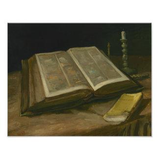 Vincent van Gogh - Still life with Bible Photo Print