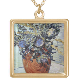 Vincent van Gogh | Still Life with Thistles, 1890 Gold Plated Necklace