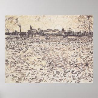 Vincent Van Gogh Summer Evening Drawing Poster