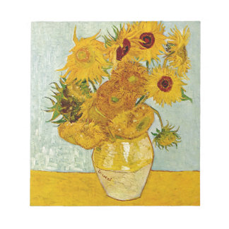 Vincent Van Gogh Sunflower Painting Notepad