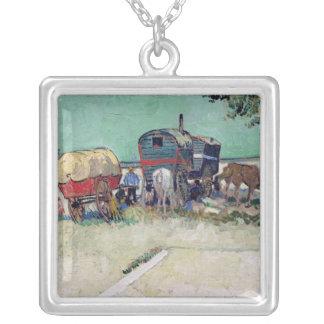 Vincent van Gogh | The Caravans, Gypsy Encampment Silver Plated Necklace