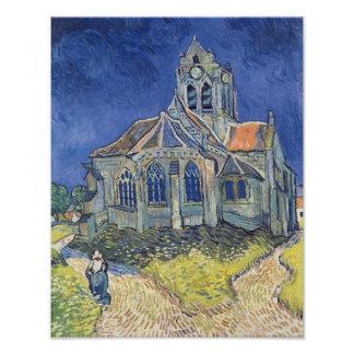 Vincent van Gogh   The Church at Auvers-sur-Oise Poster