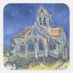 Vincent van Gogh | The Church at Auvers-sur-Oise Square Sticker