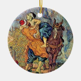 Vincent Van Gogh - The Good Samaritan - Fine Art Round Ceramic Decoration