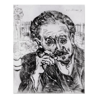 Vincent van Gogh   The Man with the Pipe Poster