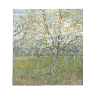 Vincent Van Gogh The Pink Orchard -Floral Painting Notepad