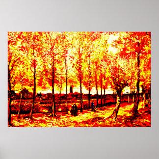 Vincent Van Gogh - The poplars in Nuenen 3 Poster