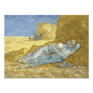 Vincent van Gogh - The Siesta (after Millet) Photographic Print