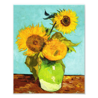 Vincent Van Gogh Three Sunflowers In A Vase Photo Art